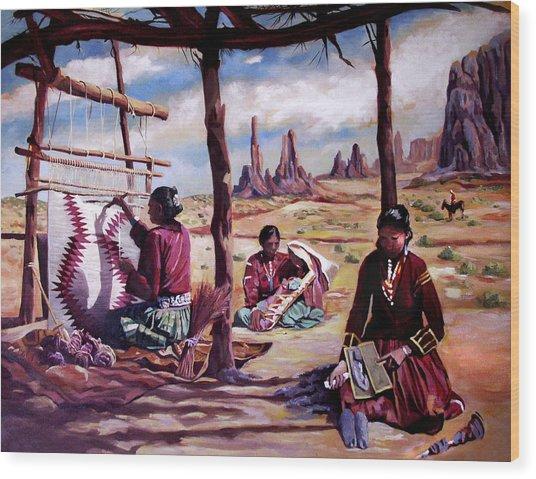 Navajo Weavers Wood Print