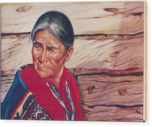 Navajo Woman Wood Print