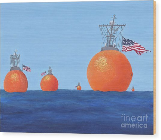 Naval Oranges Wood Print
