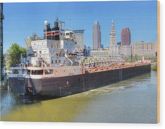 Navigating The Cuyahoga Wood Print