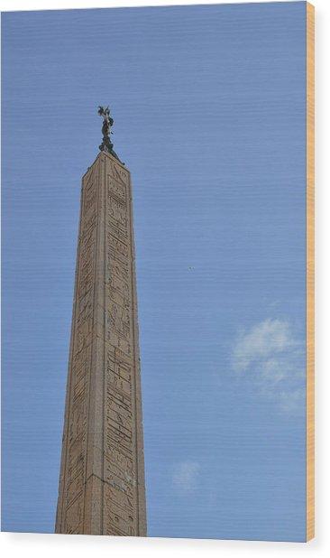 Navona Dove Obelisk Wood Print by JAMART Photography