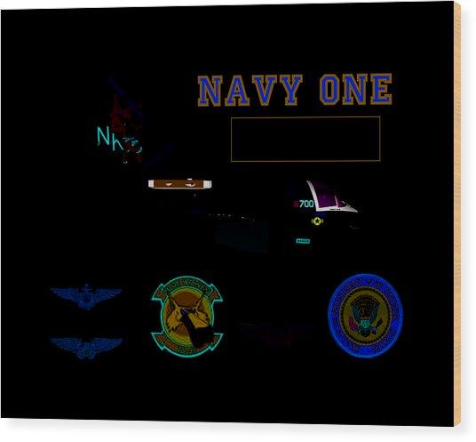 Navy One Wood Print