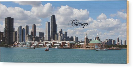 Navy Pier In Chicago Wood Print