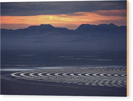 Nay For Fossil Fuel. Yea For Renewable Energy Wood Print