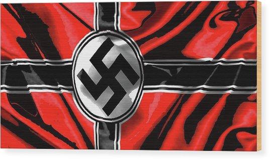 Nazi Flag Color Added 2016 Wood Print