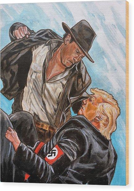 Nazis. I Hate Those Guys. Wood Print