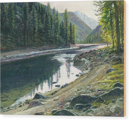 Near Horse Creek Wood Print