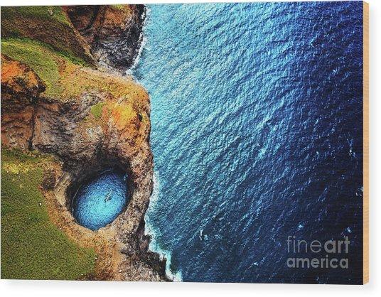 Wood Print featuring the photograph Na Pali Coast Kauai by Miles Whittingham