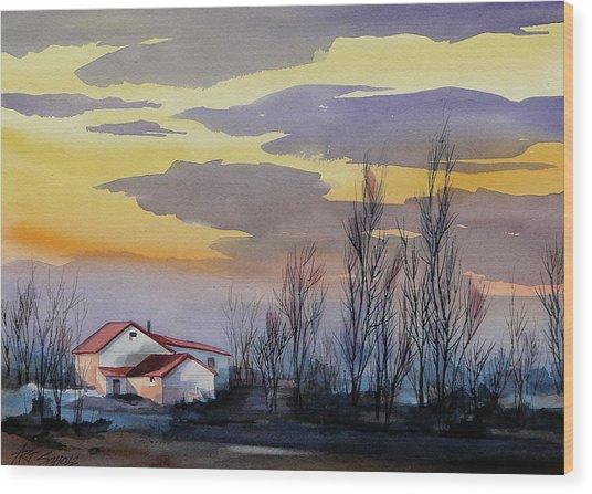 Near Sundown Wood Print by Art Scholz
