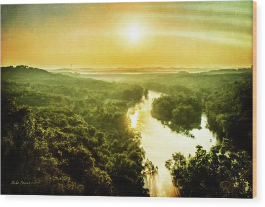 Near Table Rock Lake Wood Print