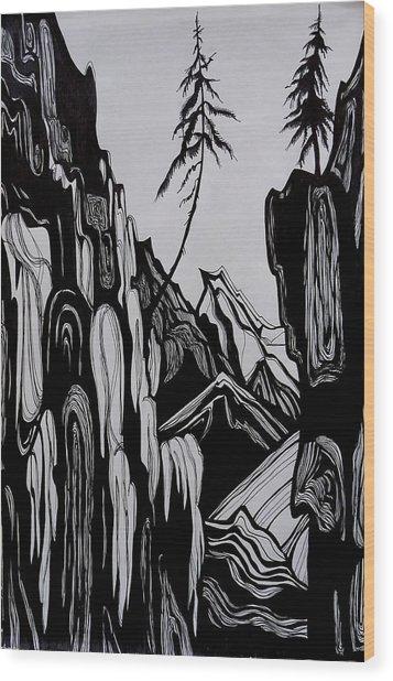 Near The Top Romance. Wood Print
