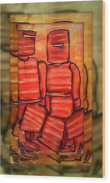 Ned Kelly Gang Art - Sunset Killers Wood Print by Joan Kamaru