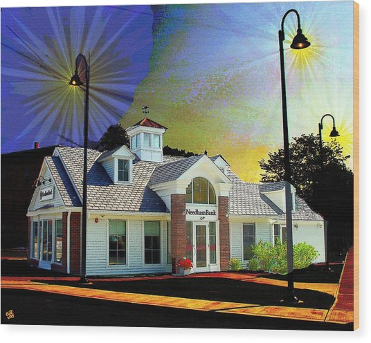 Needham Bank Ashland Ma Wood Print