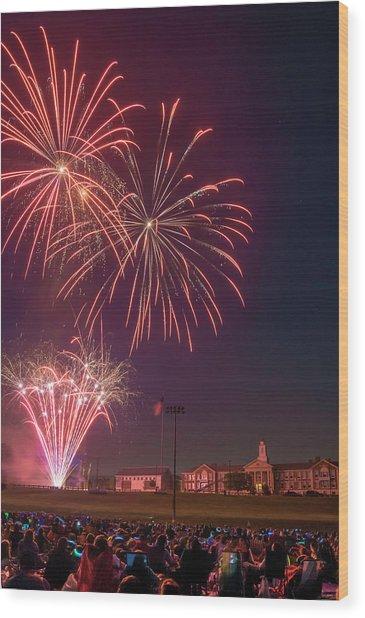 Needham Celebrates The 4th Of July Wood Print