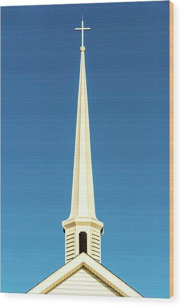 Needle-shaped Steeple Wood Print