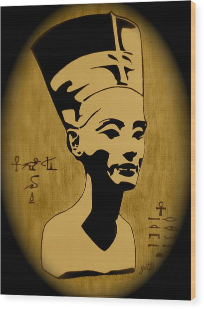 Nefertiti Egyptian Queen Wood Print