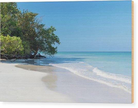 Negril Beach Morning Wood Print