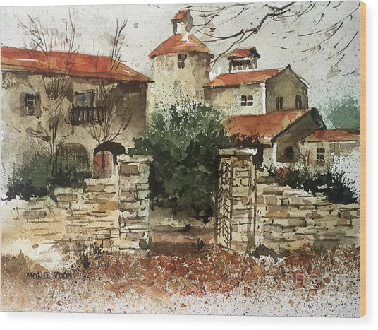 Neighbors Gate Wood Print