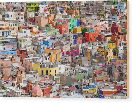 Neighbourhood. Guanajuato Mexico. Wood Print