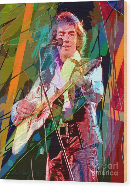Neil Diamond Hot August Night Wood Print