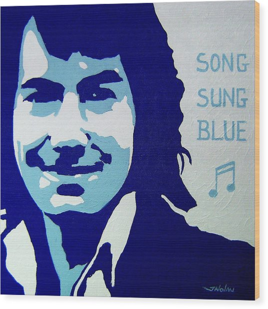 Neil Diamond Wood Print by John  Nolan