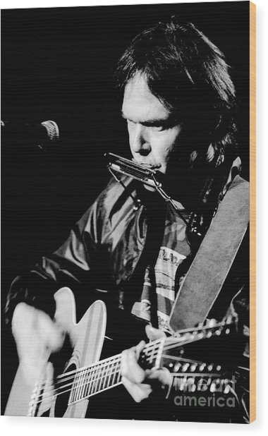 Neil Young 1986 #2 Wood Print