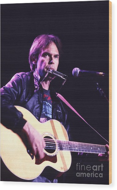 Neil Young 1986 #3 Wood Print