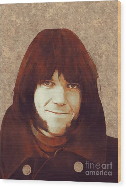 Neil Young, Music Legend Wood Print