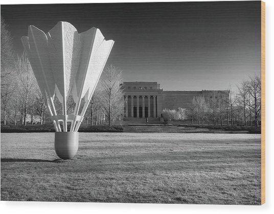 Nelson Atkins Art Museum In Infrared - Kansas City Wood Print