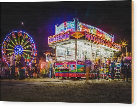 Neon Fun Wood Print by Bryan Moore