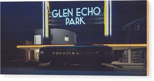 Neon Park Wood Print