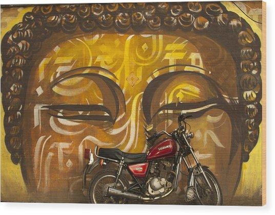 Nepal Buddha Wood Print
