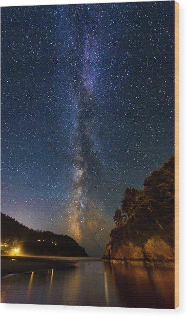Neskowin Milky Way Wood Print