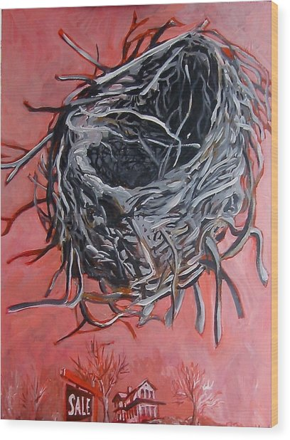 Nest Above House Wood Print
