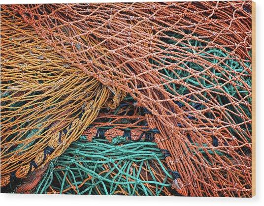 Nets On Skye Wood Print