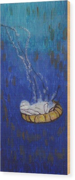 Nettle Jellyfish Wood Print