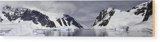 Neumeyer Channel - Antarctica Wood Print