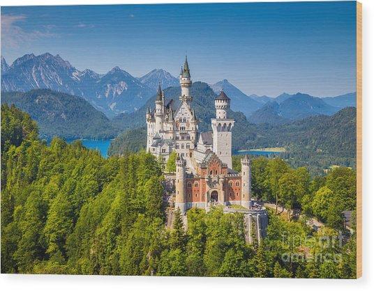 Neuschwanstein Fairytale Castle Wood Print