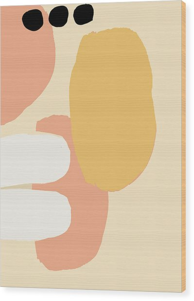 Neutral Abstract Wood Print