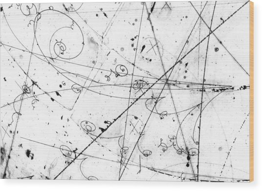 Neutrino Particle Interaction Event Wood Print