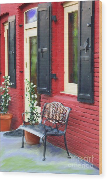 Nevada City Bench Wood Print