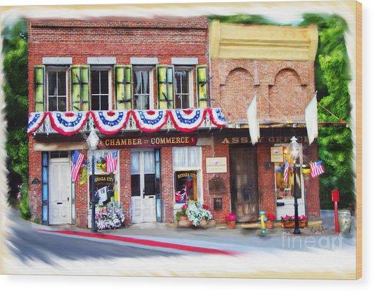 Nevada City Chamber Wood Print
