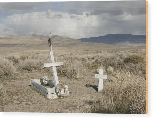 Nevada Grave Wood Print