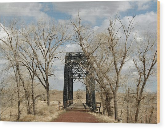 Nevada Railroad Bridge Wood Print