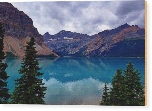 Bow Lake, Banff, Ab  Wood Print