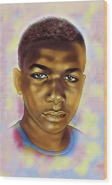 Never Forget Trayvon Wood Print