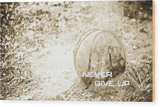 Never Give Up Hebrews Chapter 11 Wood Print