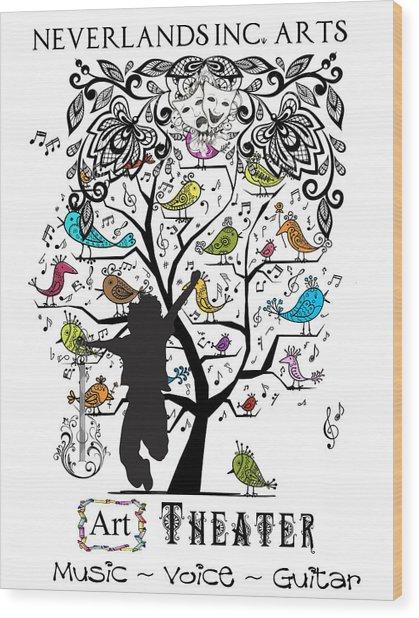 Neverlands Inc. Arts Poster Wood Print