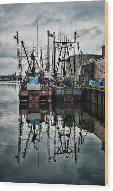 New Bedford Waterfront No. 1 - Color Wood Print