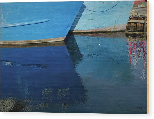 New Bedford Waterfront X Wood Print